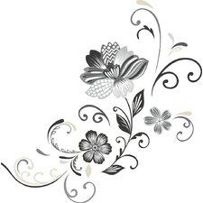 Deco 22 Piece Flower Scroll Wall Decal