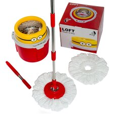 New Compact Edition Deluxe Rotating 360 Spin Mop with 2 Mop Heads