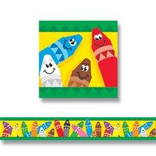 Bolder Colorful Crayons Border (Set of 2)