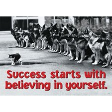 Success Starts with Believing in Yourself Poster (Set of 3)