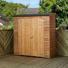 6 Ft. W x 2.6 Ft. D Wooden Overlap Pent Storage Shed