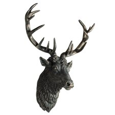 Gypsum Stags Head Wall Decor
