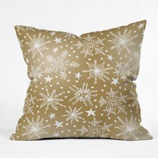 Heather Dutton Snow Squall Guilded Indoor/Outdoor Throw Pillow by East Urban Home