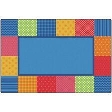 KIDSoft™ Pattern Blocks Playmat by Carpets for Kids Premium Collection