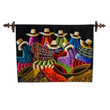 Hand-Woven Cajamarca Women Wall Tapestry