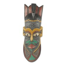 Painted African Hand-Crafted Mask Wall Décor