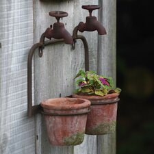 2-Piece Terracotta Wall Planter Set