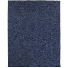 Orlane Hand-Crafted Blue Area Rug