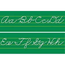 Alphabet Lines Traditional Cursive Bulletin Board Cut Out