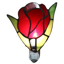 Francoise 1-Light Stained Glass Tulip Night Light