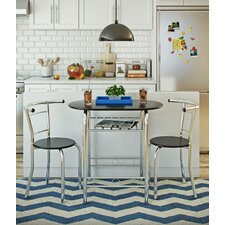 Felicia Dining Set with 2 Chairs