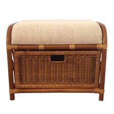 Jerry Rattan Wicker Storage Ottoman by Rattan Wicker Home Furniture