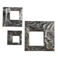 3 Piece Squares Wall Décor Set