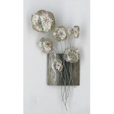 Wanddekoration Metal Flower III