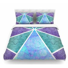 Reflective Pyramids by Pom Graphic Design Featherweight Duvet Cover