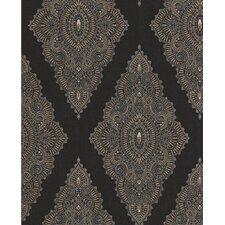 "Fabulous 33' x 20.5"" Geometric Flocked Wallpaper"
