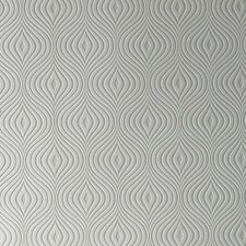 "Paintable Curvy 33' x 20"" Geometric 3D Embossed Wallpaper Roll"