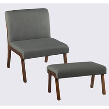Plexus Side Chair and Ottoman by Holly & Martin