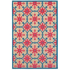 Luisa Sand/Pink Outdoor Area Rug
