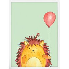 Hedgehog and His Red Balloon Paper Print