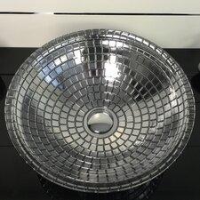 Atelier Mosaic Glass Circular Vessel Bathroom Sink by Maestro Bath