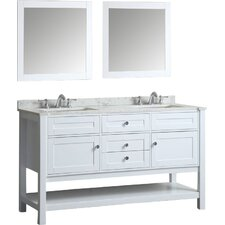 Givens 60 Double Bathroom Vanity Set with Mirror by Alcott Hill