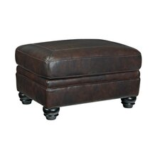 Baxter Springs Leather Ottoman by Darby Home Co®