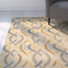 Cecelia Hand-Crafted Gold Area Rug