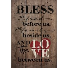 'Bless the Food Before Us' by Tonya Gunn Textual Art on Plaque