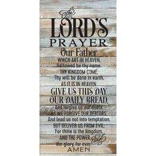 'Lord's Prayer' by Tonya Gunn Textual Art on Plaque