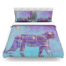 Panther at Night by Marianna Tankelevich Featherweight Duvet Cover