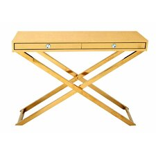 Stainless Steel PVC Leather Console Table by Cole & Grey