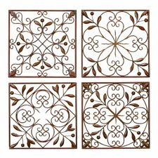 4 piece metal wall dcor set - Metal Wall Art Decor