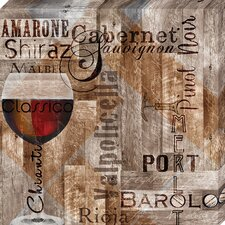 'Classic Red Wines' by Lisa Wolk Graphic Art on Wrapped Canvas