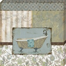 'Country Style Bath II' by Carol Robinson Graphic Art on Wrapped Canvas