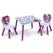 Frozen Children 3 Piece Square Table and Chair Set