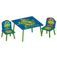 Ninja Turtles Children 3 Piece Square Table and Chair Set