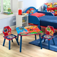 Paw Patrol Children 3 Piece Square Table and Chair Set
