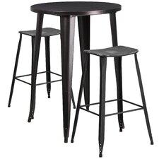 Backless Saddle Seat 3 Piece Bar Set by Flash Furniture