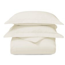 Superior Cotton Antimicrobial Solid Duvet Cover Set