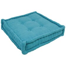"""20"""" Tufted Micro Suede Floor Pillow"""