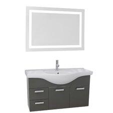 Phinex 39 Single Bathroom Vanity Set with Mirror by Nameeks Vanities