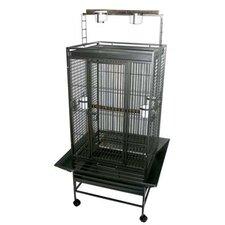 Play Top Parrot Bird Cage with 3 Feeder doors
