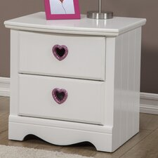 Sparkling Hearts 2 Drawer Nightstand