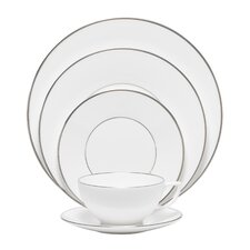 Platinum Fine Bone China 5 Piece Place Setting Set, Service for 1