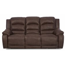 Baton Rouge Reclining Sofa with Headrest and Lumbar Support