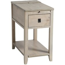 Williamstown Chairside Table in Driftwood by Beachcrest Home