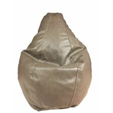 Basket Weave Bean Bag Chair by B&F Manufacturing