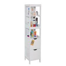 Ashmore 30cm x 142.5cm Freestanding Tall Bathroom Cabinet