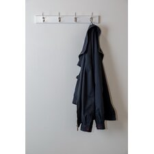 Wooden Rail Coat Rack